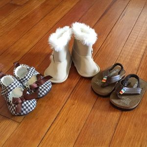 Baby Girl Shoes Boots Sandals Houndstooth Fur Line